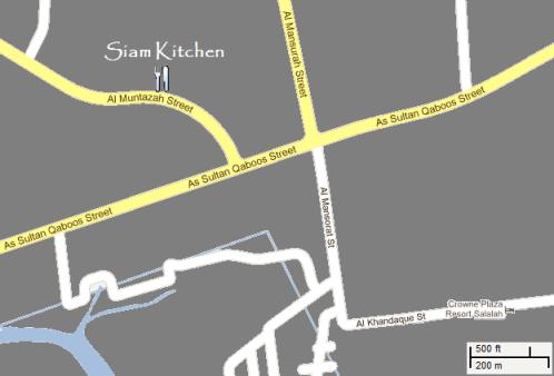 Map to Siam Kitchen Salalah